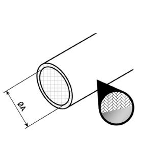 Schéma gaine annelée aluminisée haute température