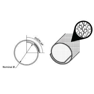 Schéma gaine textile auto refermable haute résistance à l'abrasion