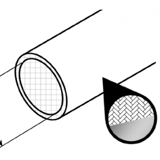 Gaine fibre de verre aluminisée