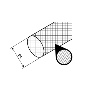Gaine fibre de verre imprégnée