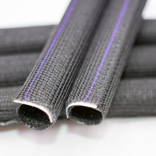Gaine textile auto-refermable adhésive